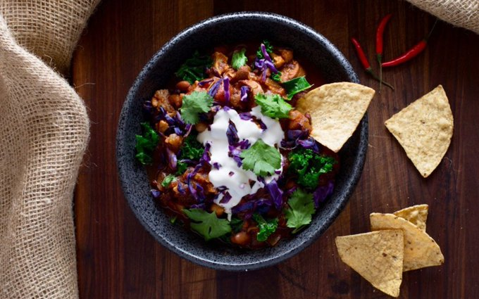 Cauliflower-Vegetable Bean Chili [Vegan, Gluten-Free]