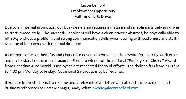 Lacombe Ford on Twitter: \