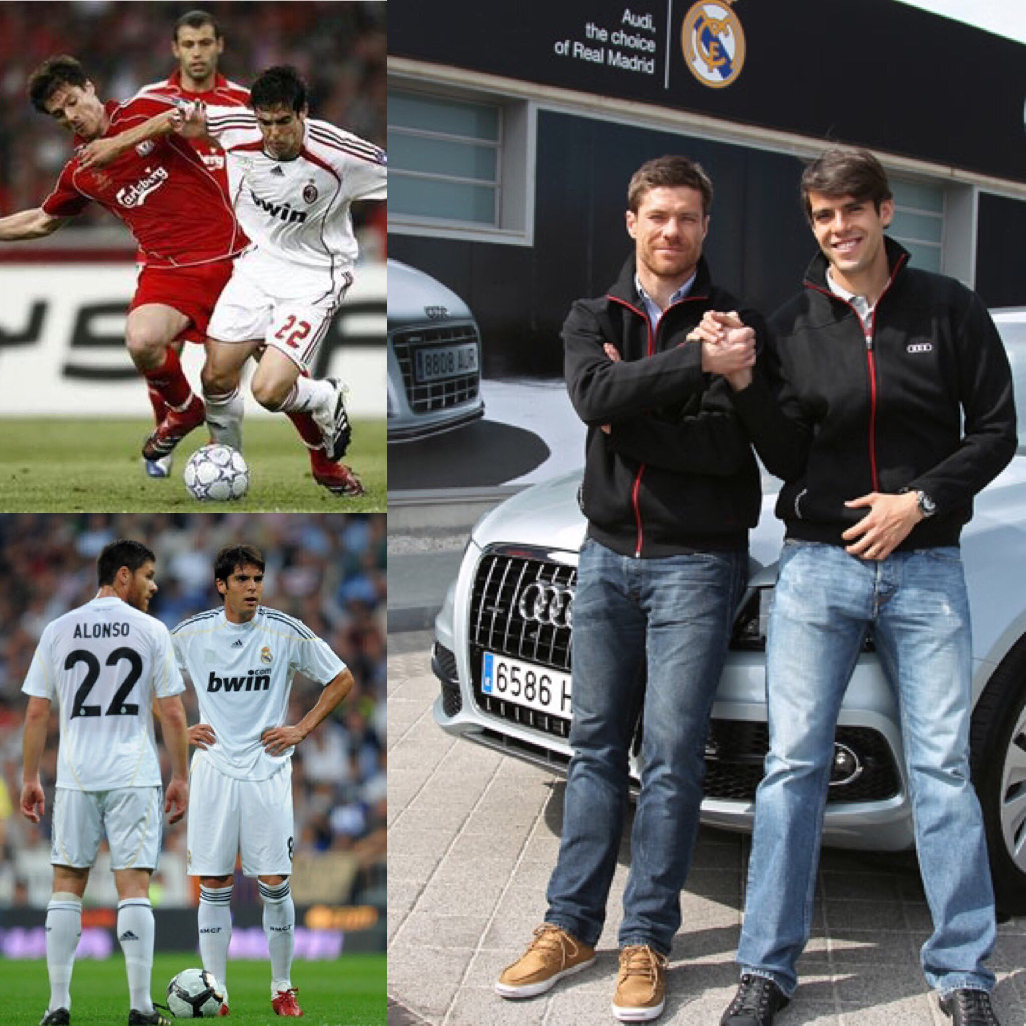 Rivals...teammates... friends!! @XabiAlonso best of luck in the future �� https://t.co/Nk6qyNzSYA