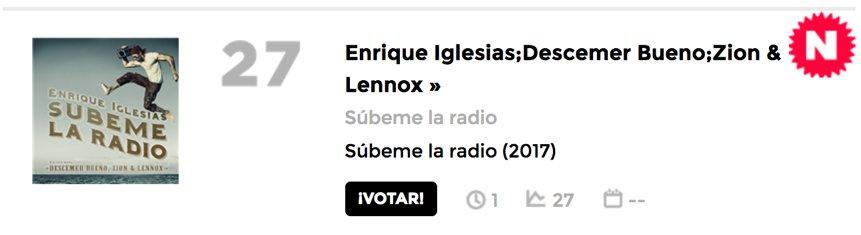 Please vote! Lets get to #1. ¡A votar para llegar al #1! #SUBEMELARADIO  https://t.co/NStsyHFuaZ https://t.co/k278XDV0tS