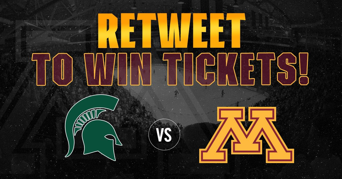 We're giving away 4️⃣ tickets to Friday's 6:30 pm #Gophers game. Help spread the word and retweet to win. https://t.co/kLoWcGkib8