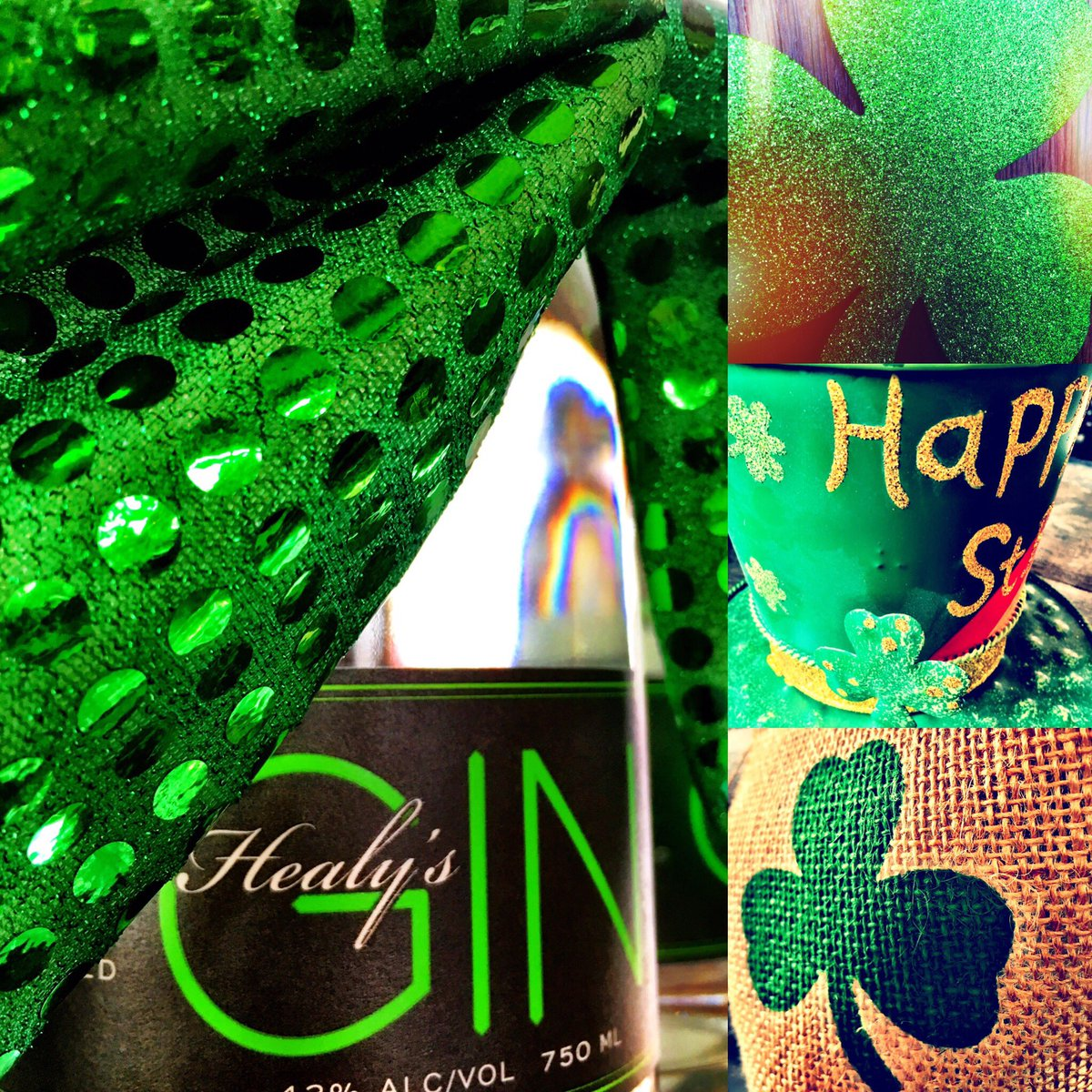 Gearing up for St. Patricks Day.. #healysgin #bestdamngin #greenisthenewgold #allthingsirishpic.twitter.com/Mmq9aZkpXD