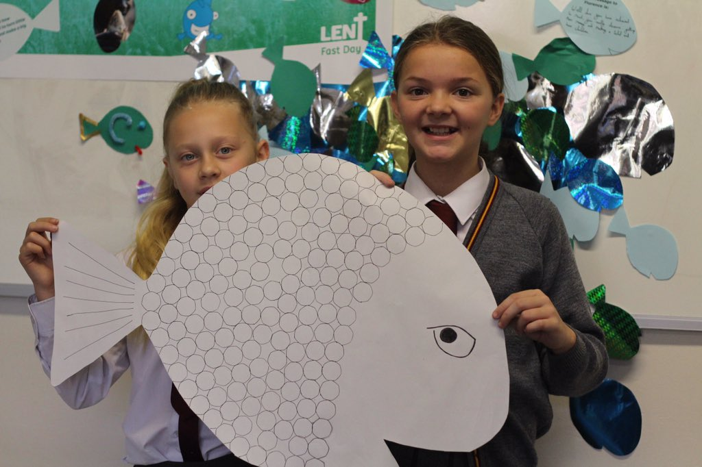 It's Lent Fast Day tomorrow! Do you have any fish themed fundraisers happening in your school? #BigFish https://t.co/VaLpnnKBCy https://t.co/K0ISNQaBZe