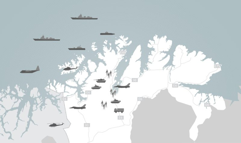 Exercise Joint Viking 2017  takes place in Finnmark, north of Norway, near the Russian border. Picture below.