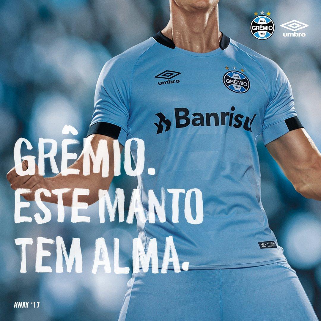 1532b30b893a6 Apresentamos a nova camisa away do  Gremio para a temporada de 2017.  Compartilhar + Info. UmbroBrasil. Umbro Brasil