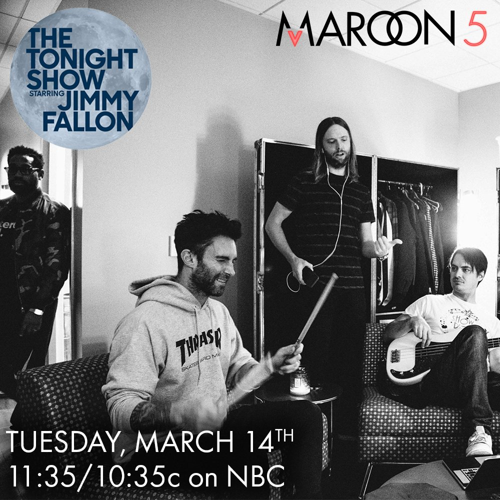 Happy to announce that we're playing our new single #COLD on @jimmyfallon on 3.14.17 on @nbc #M5OnFallon
