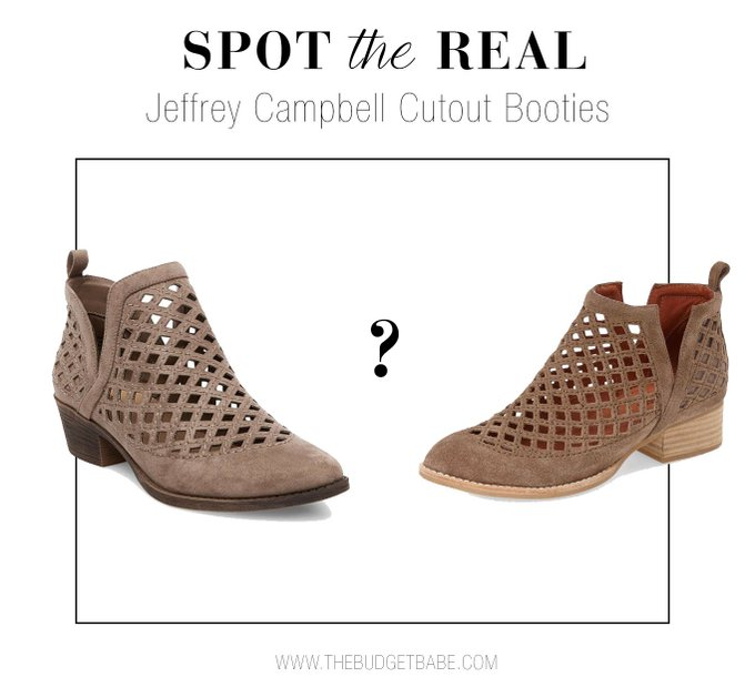 Spot the Real: Jeffrey Campbell 'Taggart' Cutout Bootie