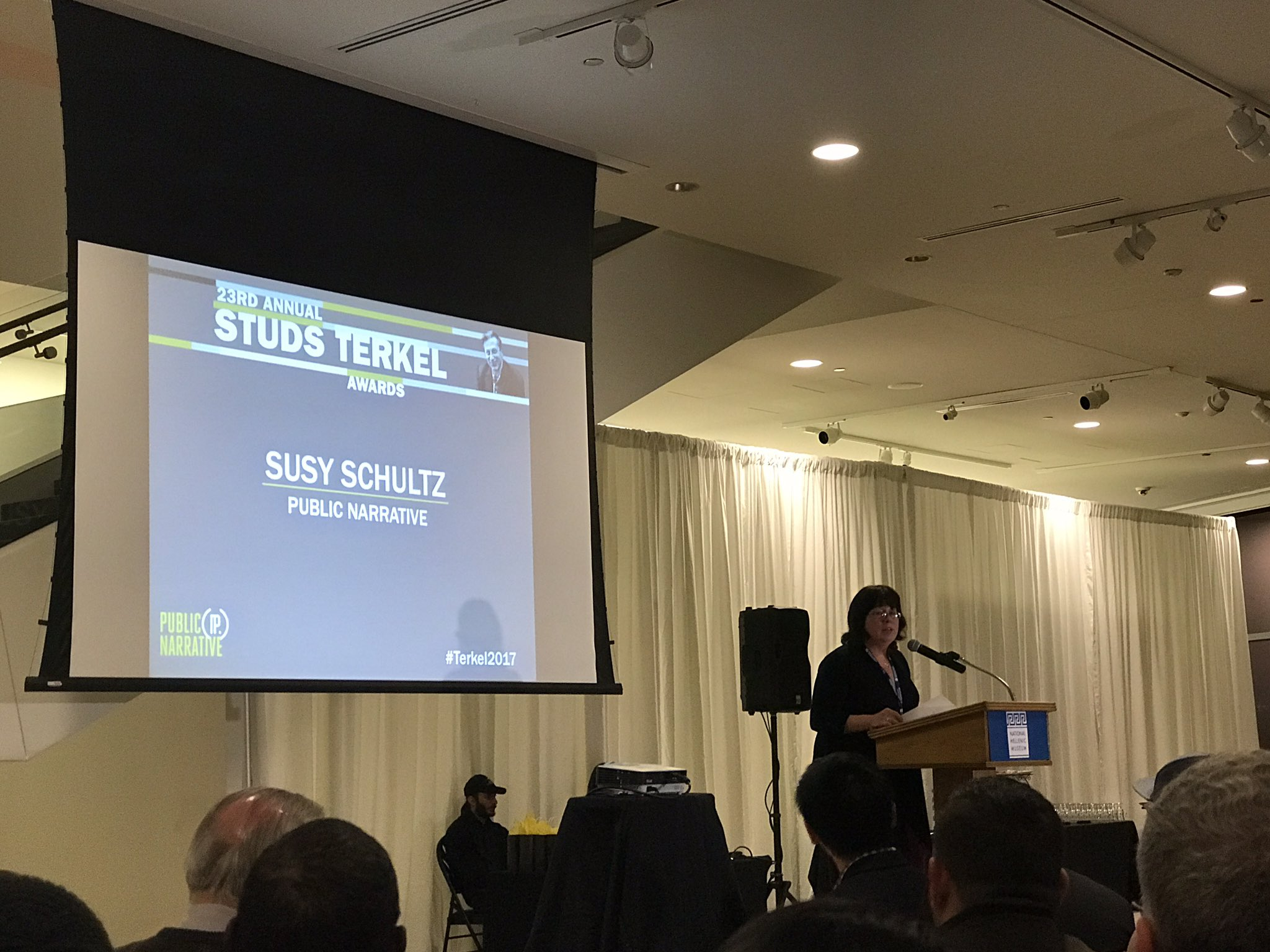 @Susys at the 23rd Annual Studs Terkel awards | #Terkel2017 https://t.co/gmOB8kbOzS