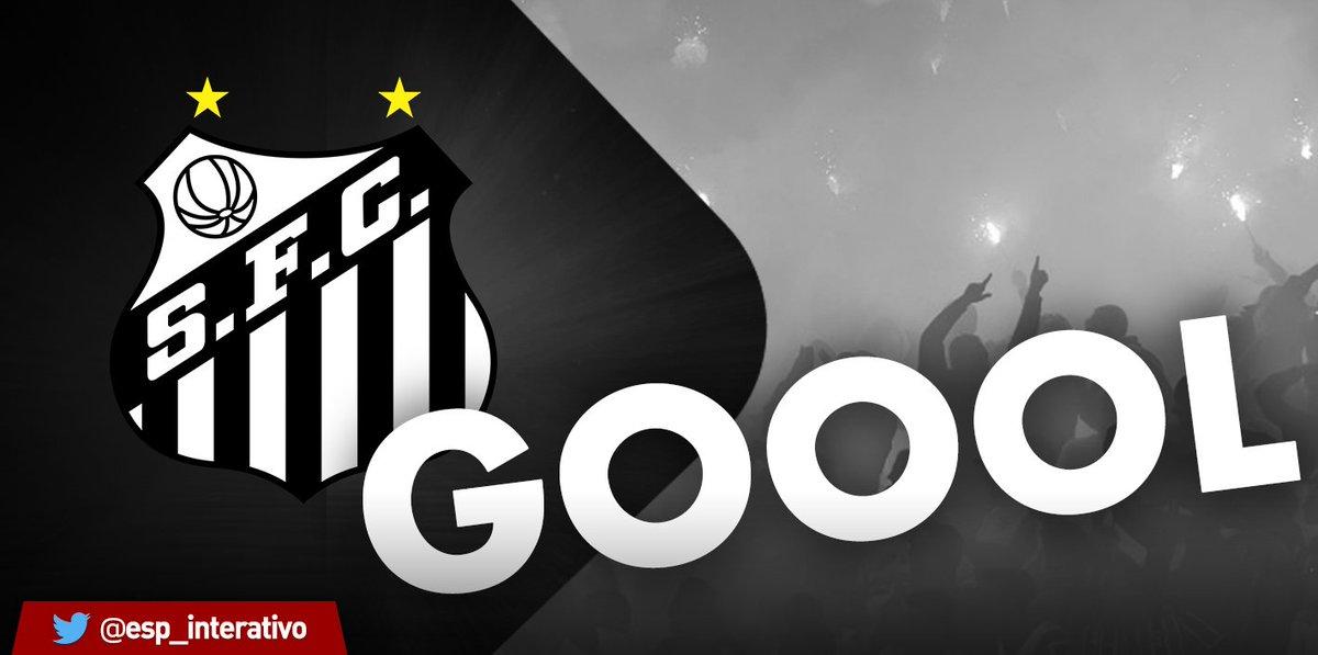 GOOOOOOOOOOOOOOOOOOLLLLL!!! É DO SANTOS!!! Lucas Lima dá lindo passe para Thiago Maia, que domina e chuta forte para empatar: 1 a 1 #SCRxSAN