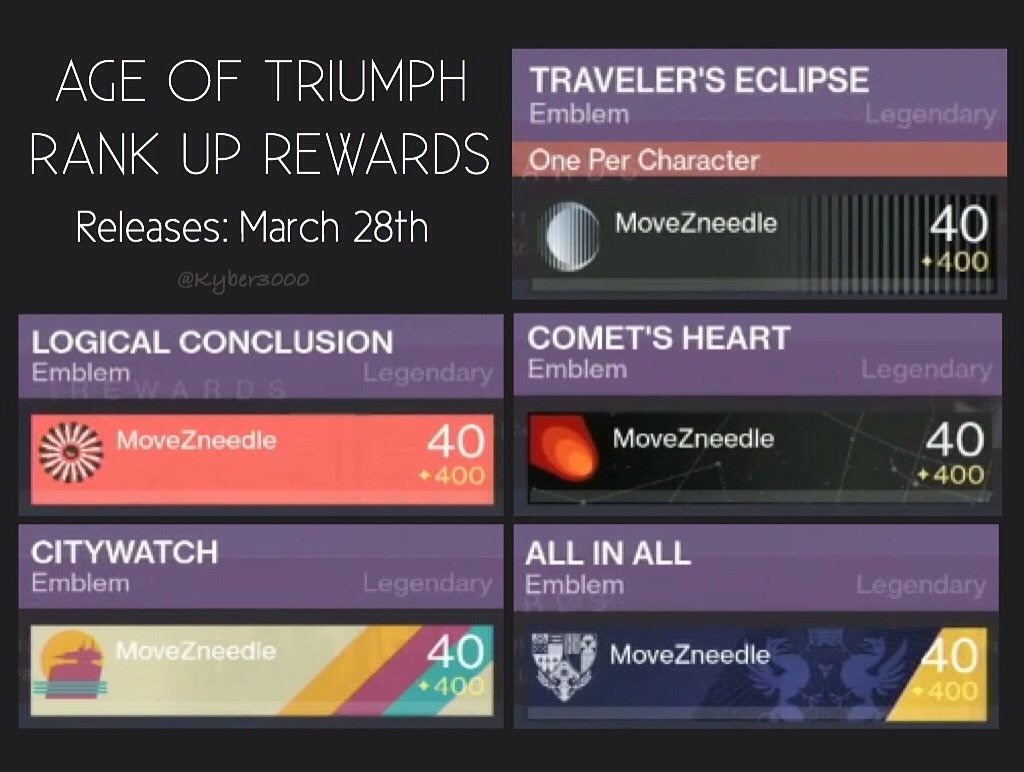 """kimberly on twitter: """"destiny: age of triumph record book rank up"""