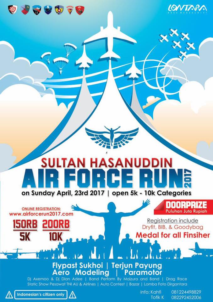 Sultan Hasanuddin Air Force Run • 2017