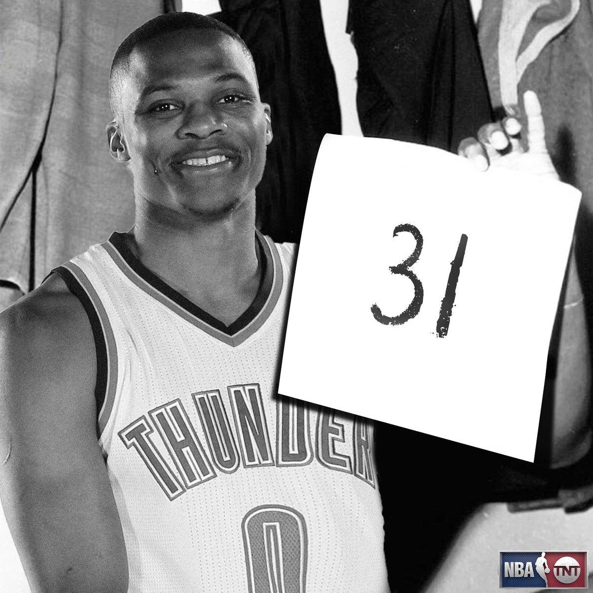 """NBA on TNT on Twitter """"Russell Westbrook ties Wilt Chamberlain"""