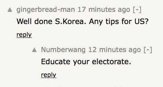 잘했어 대한민국 친구들, 혹시 미국에 팁 좀 줄 수 있어? ㄴ 유권자를 교육시켜 https://t.co/uSSl1cFMPw