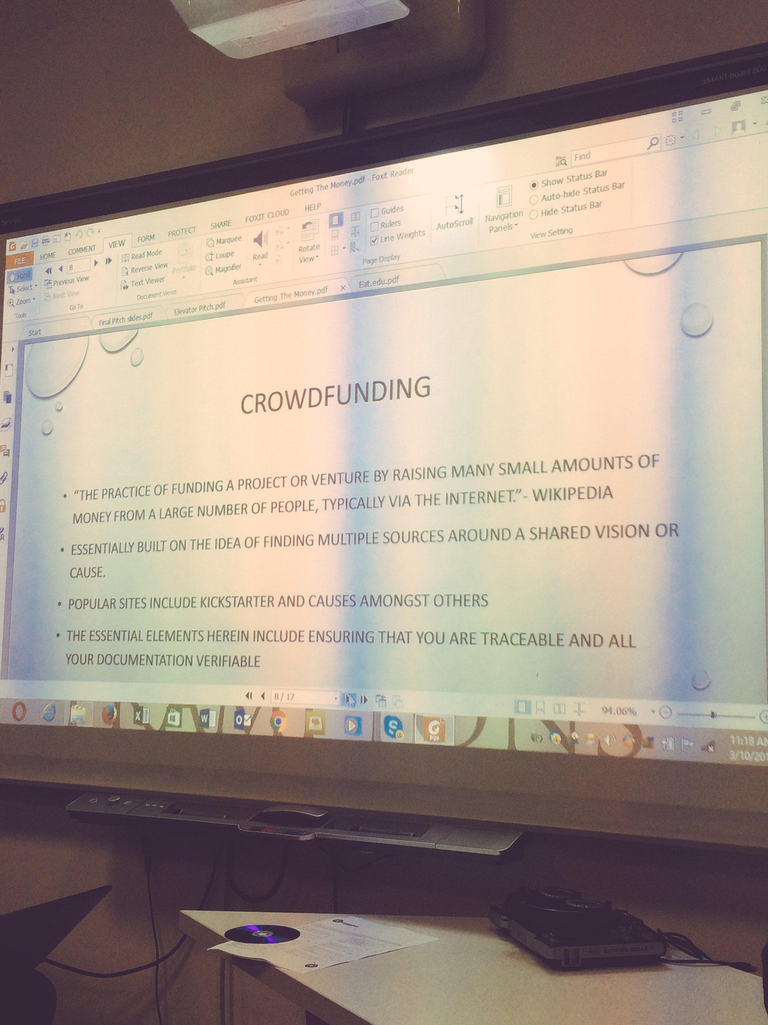 Solution 3 - Crowdfunding Getting the Funding @TangaiDavid #jumpstartbyo https://t.co/CIXhJuzARc