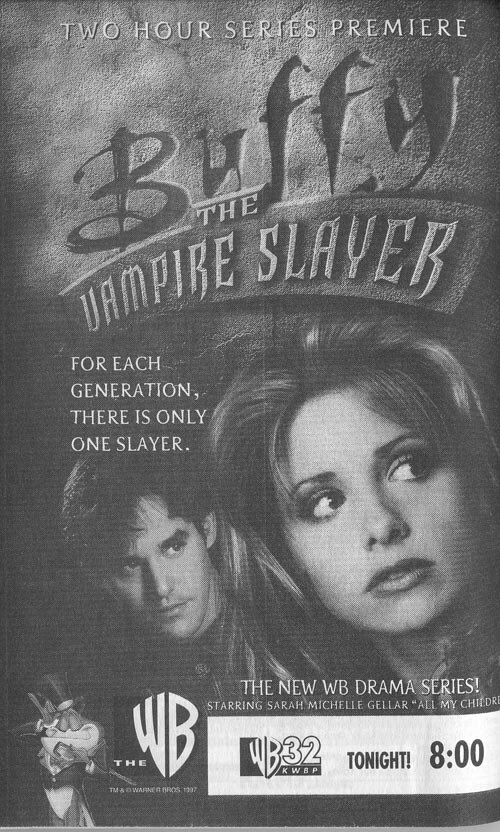 Buffy aired 20 years ago today. https://t.co/XsMFzyHnwg