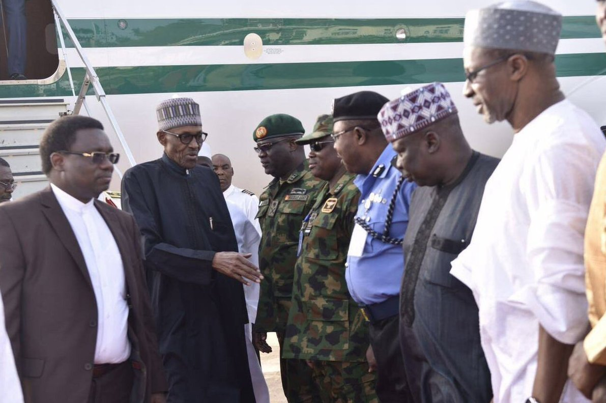 Nigeria: Muhammadu Buhari de retour au pays. Photos
