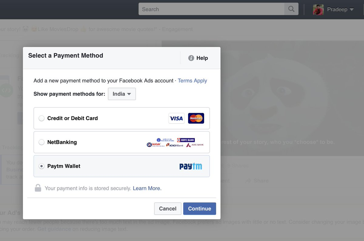 .@Paytm wallet... best thing happened to @Facebook Ads.