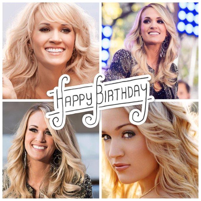 Happy Birthday, Carrie Underwood!! Help us celebrate her today :)