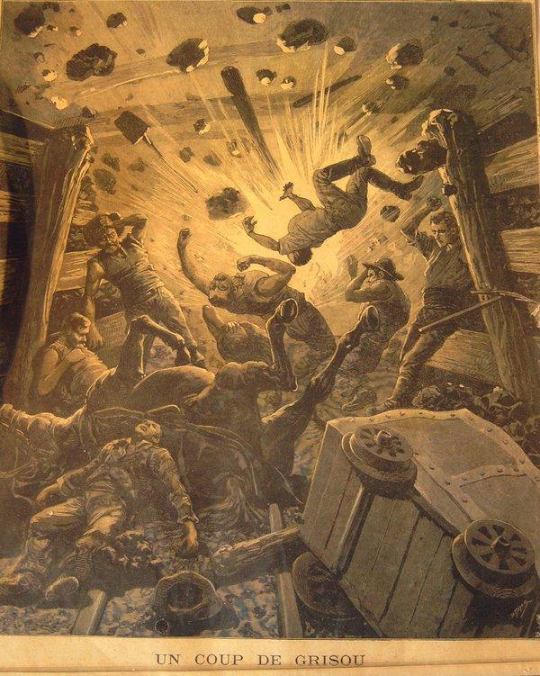 5)Le 10 mars 1906, un coup de grisou suivi d'un coup de poussier ravage en qq secondes 10 km de galeries. https://t.co/pG3OgorW5v