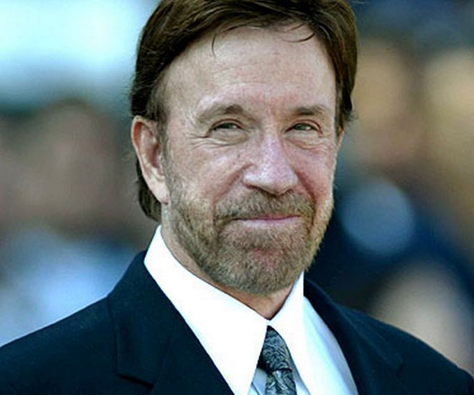 If it is your birthday today, happy birthday. You celebrate your special day with American actor Chuck Norris