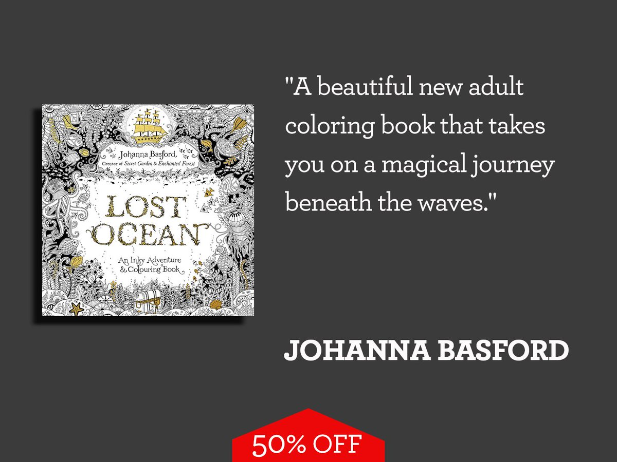 National Book Store On Twitter NBSSuperSummerSale LOST OCEAN AN INKY ADVENTURE AND COLORING BOOK FOR ADULTS By Johanna Basford