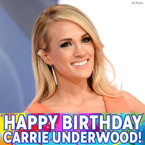 Happy 34th birthday to Grammy-winning singer Carrie Underwood! Join us in wishing her well!