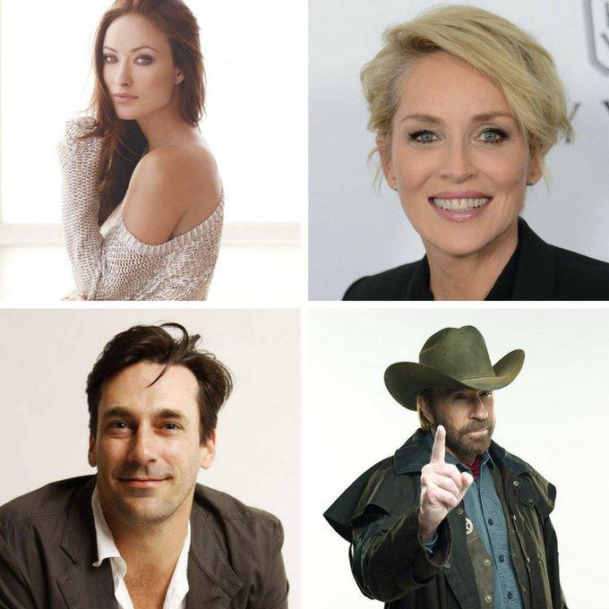 Happy Birthday to Olivia Wilde, Sharon Stone, Jon Hamm and... wait for it... Chuck Norris!