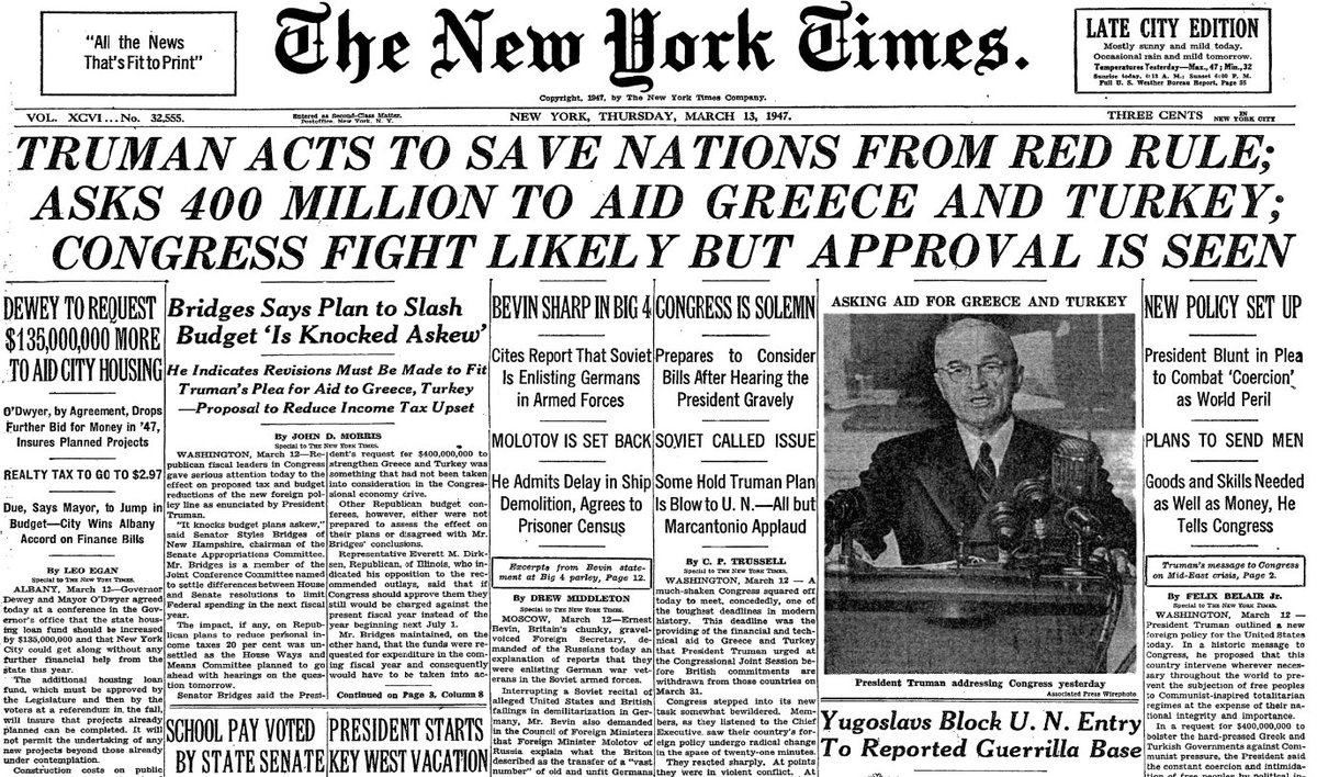 new york times otd on twitter the front page otd in 1947 the