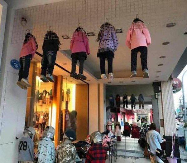 ここの子供服売り場が不気味すぎる