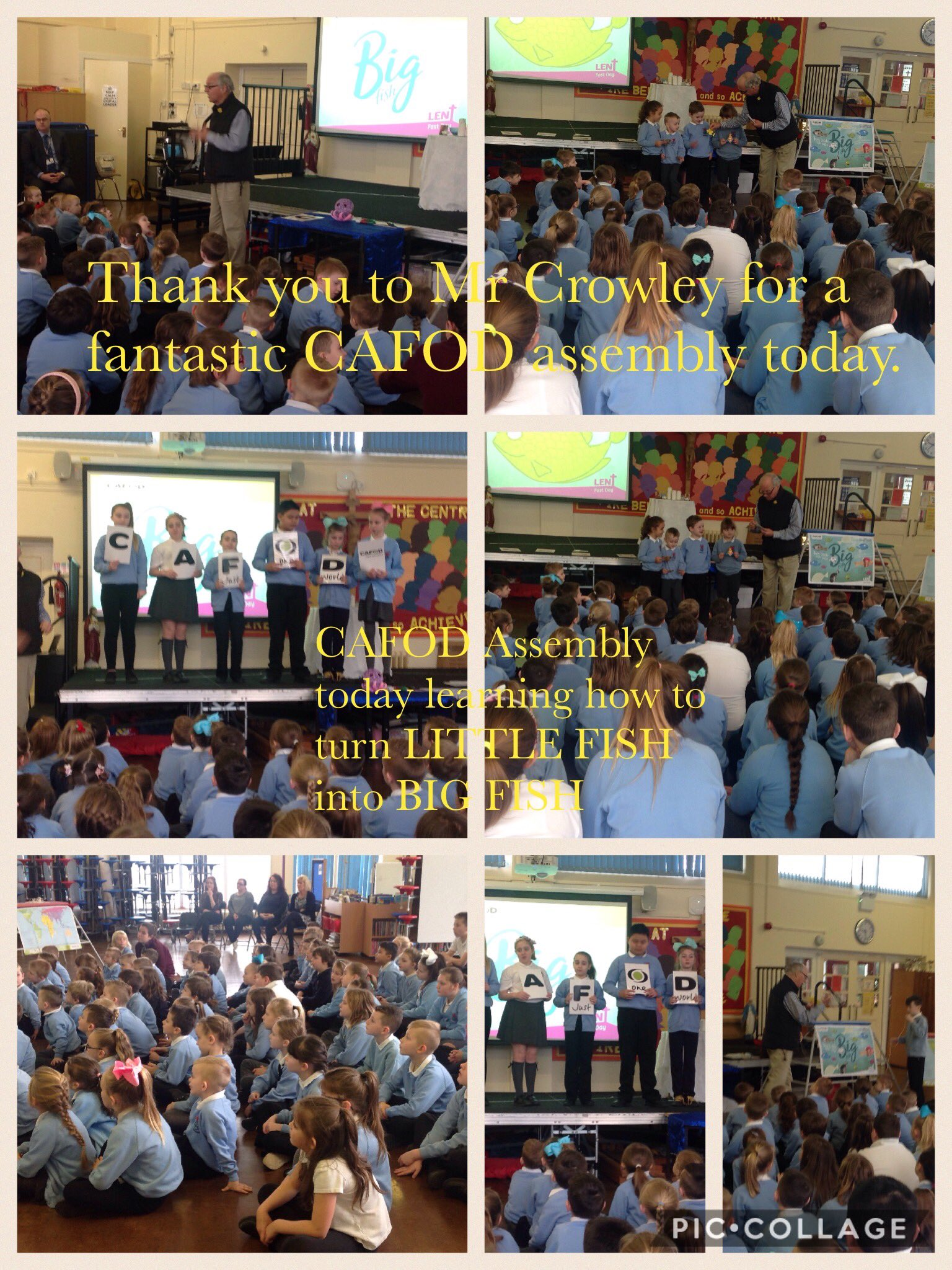 Thanks Chris Crowley for an inspirational CAFOD 'Big Fish' assembly.........@CAFODSouthWales https://t.co/L5pu3n4dlU