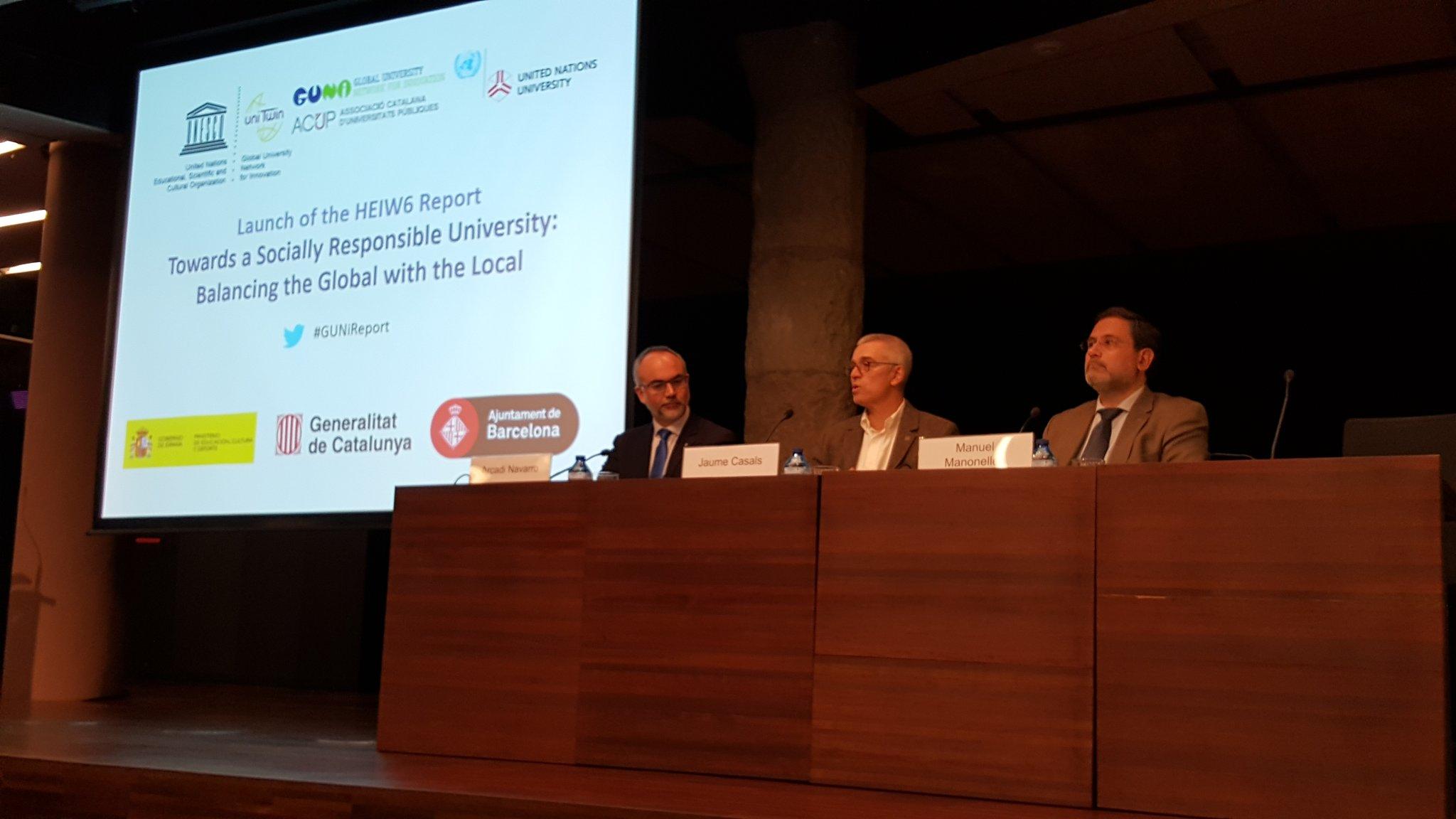 Comienza el acto de la Global University Network for Innovation en La Pedrera. #GUNireport https://t.co/DNNhaFjPVr