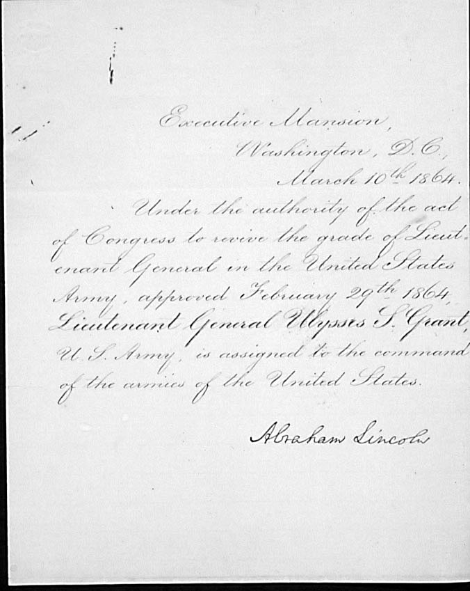 U.S. Grant promoted to lieutenant general to lead Union Army #OTD 1864.  What were the results of this promotion? https://t.co/JLKLgeEUZL)) https://t.co/5fLlrECOs5