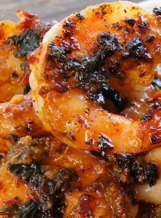 Sauteed Shrimp with Spicy Plum Sauce