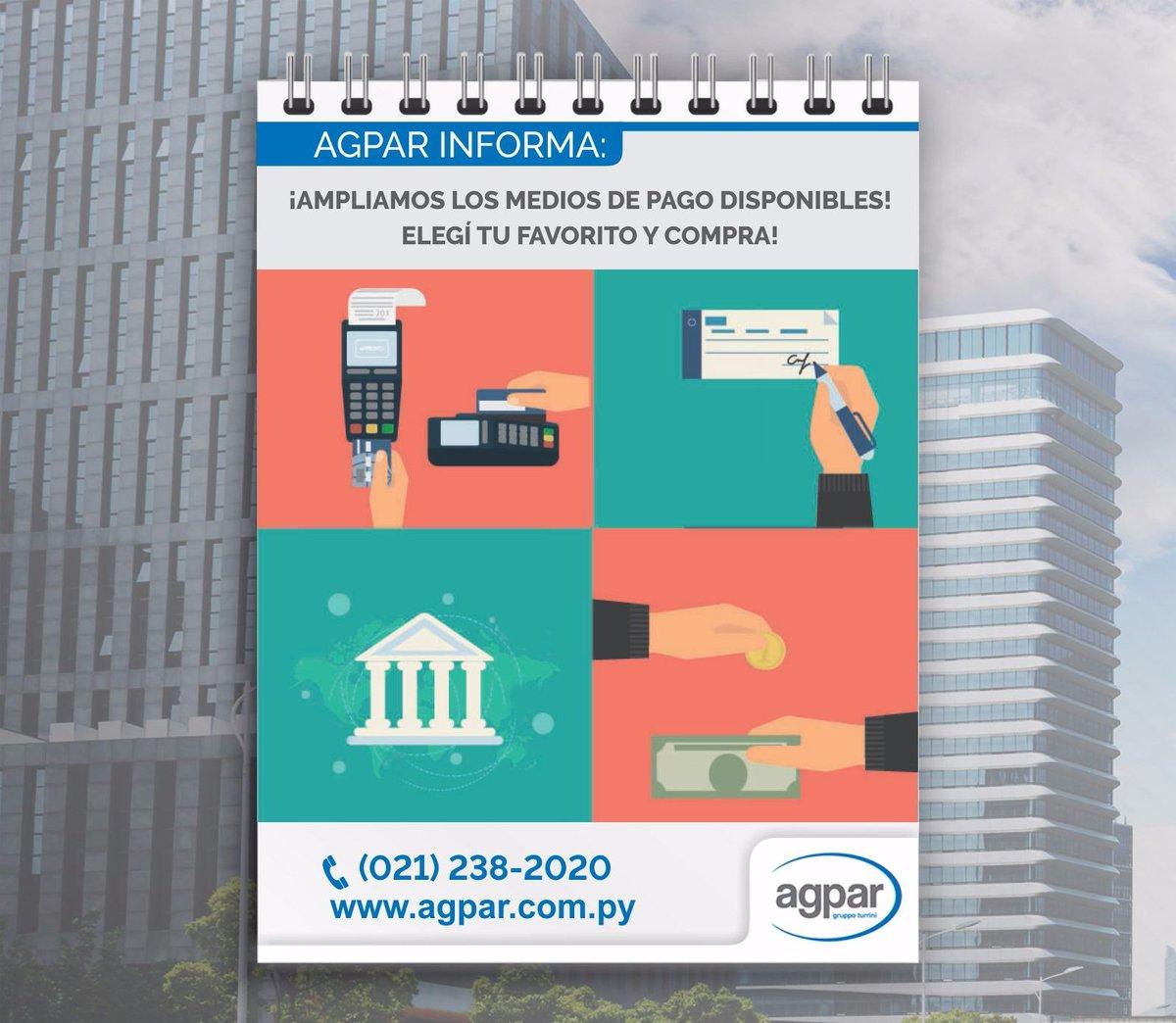 Recorda, en Agpar podes pagar como mejor te parezca! #agpar #pedidos https://t.co/tCmEF05IuU