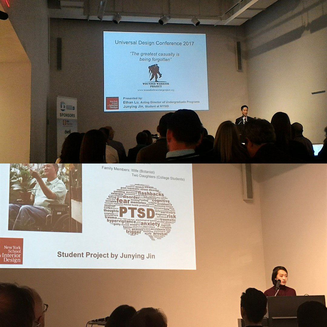 New york school of interior design on twitter yesterday mps s program director ethan lu and student junying jin presented at centerforarch on a design