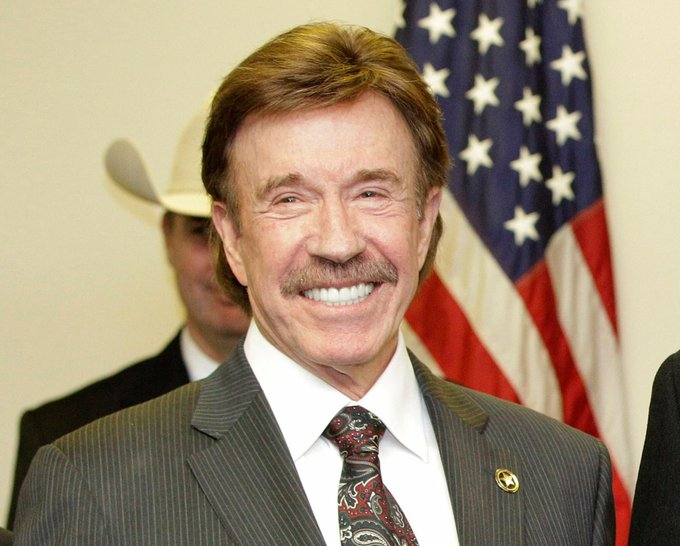 Happy Birthday to martial artist, actor, film producer and screenwriter Chuck Norris. He turns 77 today.