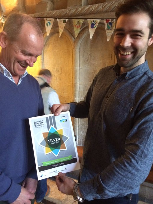 Could they look any happy? Our Very own Adrian and Matt holding our silver award in the single retailer category