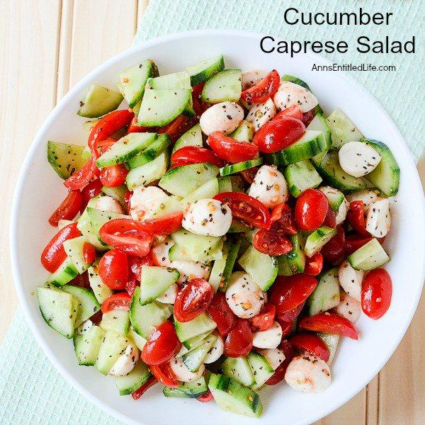 Cucumber Caprese Salad