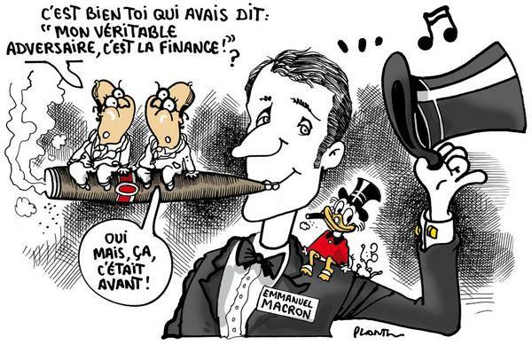 Pour ceux qui s'énervent sur le dessin Macron des Reps, Plantu avait fait ceci pour Le Monde: https://t.co/w4G5KfQTkm