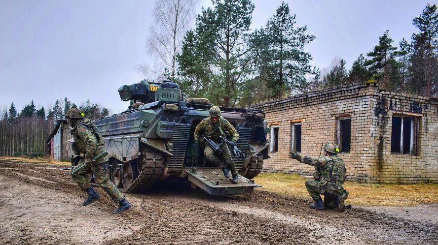 #eFP troops conduct 1st live fire exercise in Rukla Lithuania.