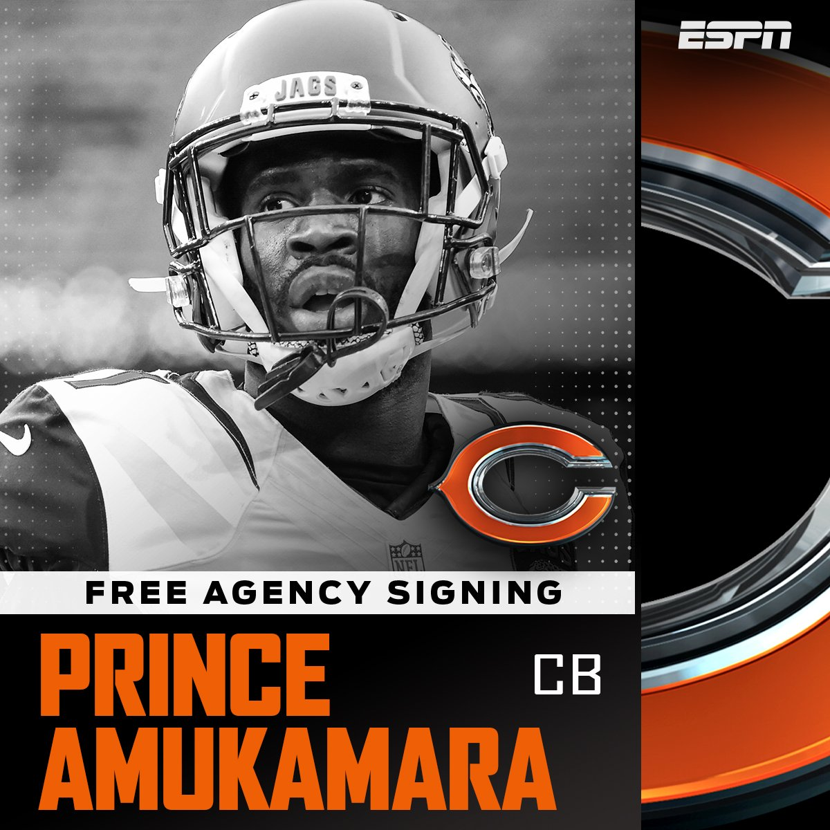 Former Jaguars CB Prince Amukamara has an agreement with the Bears on a  one-year 73303dcbd