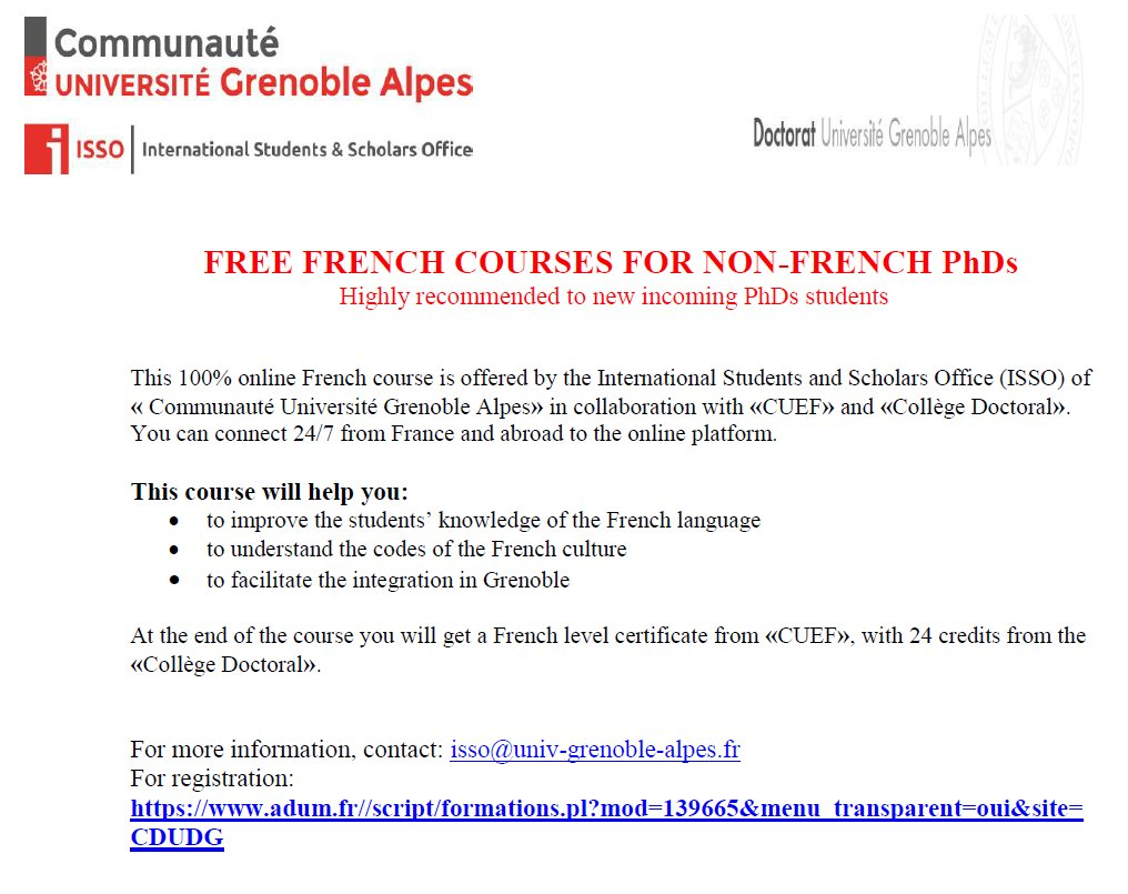 Ali Fouladkar On Twitter Free French Courses For Non French Phds
