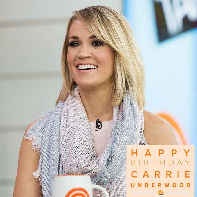 Happy birthday, Carrie Underwood!