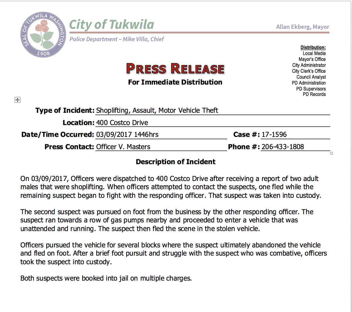 tukwila police tukwilapd s twitter profile twicopy press release for case 17 1596
