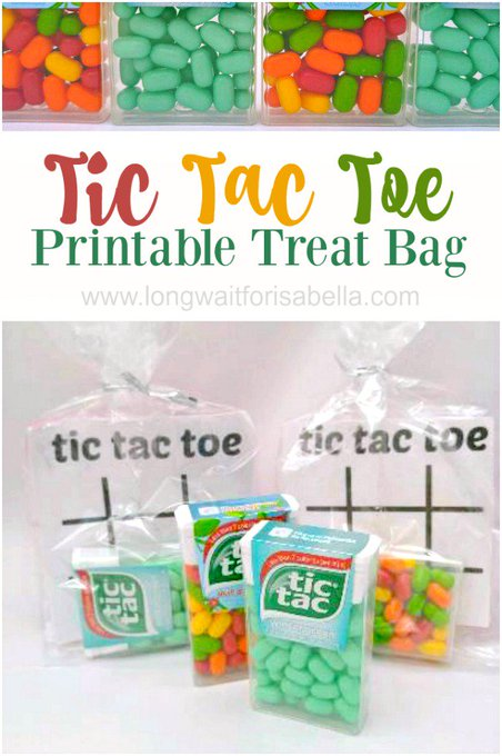 Tic Tac Toe Free Printable Treat Bag for Kids
