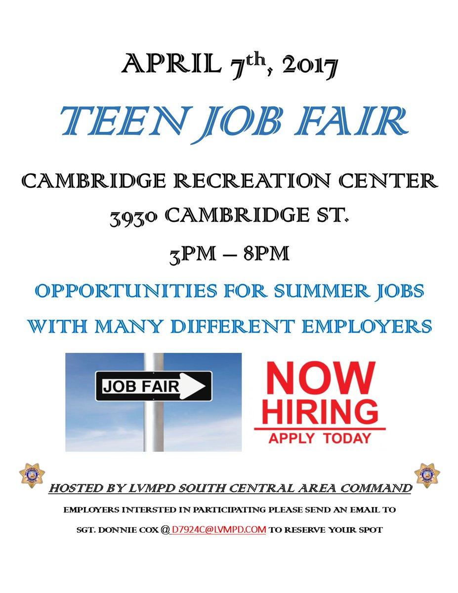 lvmpd on twitter teen job fair coming 7th vegas jobs lvmpd on twitter teen job fair coming 7th vegas jobs t co gxiiqv6u4c