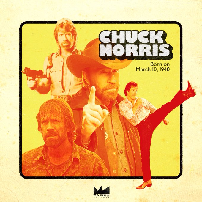 When it\s his Birthday, everyone celebrates. Happy Birthday to the iconic Chuck Norris from
