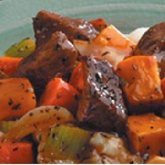 Onion Mushroom Beef Stew