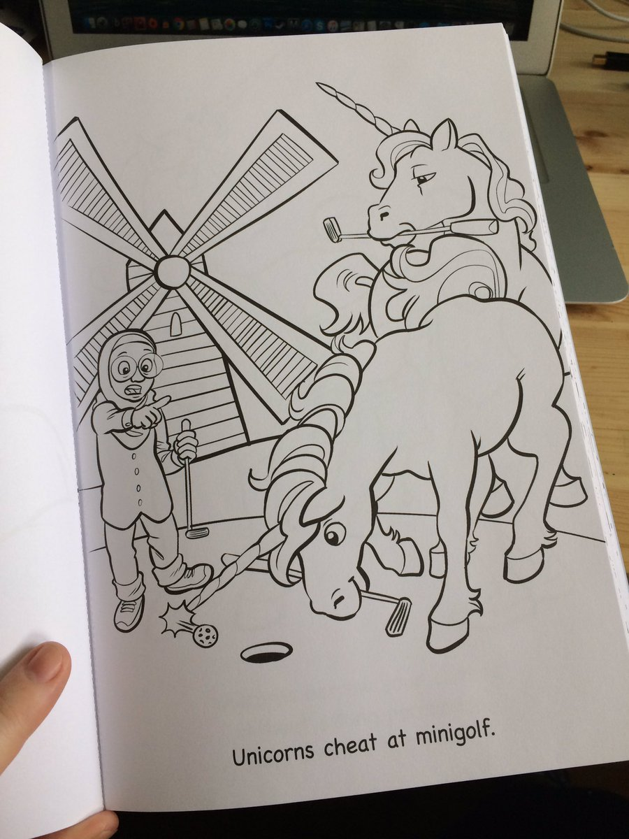 i love this little book and am so proud of how its grown i really hope you love it too i just realized it has perforated pages omfgpictwittercom - Unicorns Are Jerks Coloring Book