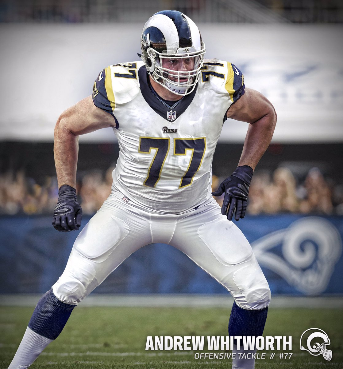 "Los Angeles Rams on Twitter ""OL awhitworth77 will wear No 77"
